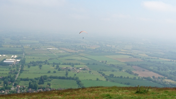 Paraglider over the Malvern Hills